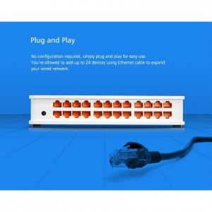 TOTOLINK SW24D 24-Port 10/100Mbps Fast Ethernet Desktop/Mounting Network Switch