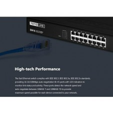 TOTOLINK SW16 16-Port 10/100Mbps Fast Ethernet Speed Desktop Network Switch