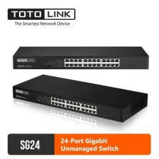 TOTOLINK SG24 24-Port 10/100/1000Mbps Gigabit Ethernet Desktop Network Switch