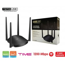 TOTOLINK A800R AC1200 - 4 PORT ROUTER Wireless Dual Band ROUTER / AP / REPEATER 1200MBPS MU-MIMO PARENTAL CONTROL