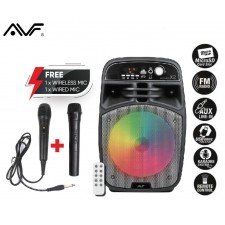 AVF BOOMBOX-X2 PORTABLE BLUETOOTH SPEAKER WITH WIRELESS MIC
