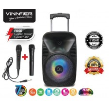 Flipgear Tango 212WM Portable Trolley Bluetooth Speaker Karaoke system FM USB SD