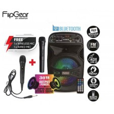 Vinnfier FlipGear Tango 210WM Bluetooth Karaoke Speaker, FM, SD Card & USB Slot