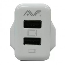 AVF Twin Port USB Power Adapter (UK Type) 10W/2.1A AUTA05