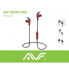 AVF HBT401 iSPORT-PRO BLUETOOTH WIRELESS EARPHONE EARBUD HANDSFREE WITH MIC & RECHARGEABLE FUNCTION WITH MP3