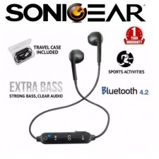 SonicGear Bluesports 1 Sports Bluetooth Earphones with Mic for Smartphones and Tablets