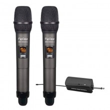 Vinnfier Flipgear WM1100DuoU Professional UHF Wireless Microphone with Audio
