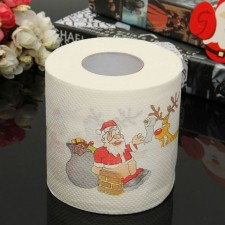 Santa Claus Christmas Deer Toilet Roll Paper Tissue Table Room Home Party