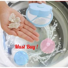 Reusable Washing Machine Dirt Trap Bag Floating Lint Mesh Catcher Filter Net Pouch