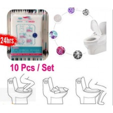 10pcs Portable Pocket Disposable Paper Toilet Bowl Seat Stool Cover Pad Travel Hotel Hygiene
