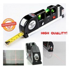 Multipurpose Level Laser Horizon Vertical Measure Tape Aligner Bubbles Ruler LP3