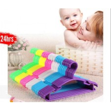 10pcs Durable Hanger Baby Cloth Plastic Clothes Rack Anti-Slip Clothing Children Hanging Hook