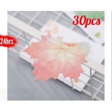 30pcs Memo Note Self-Stick Leaves Series Books Memos Bookmark Stationery Handbook Paper