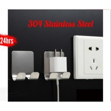 1pcs 304 Stainless Steel Durable Strong Electrical Plug Hanger
