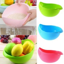 Drain Basket Washing Kitchen Clean Rice Vegetable Device Bowl