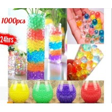 1000pcs Crystals Water Balls Crystal Pearls Jelly Gel Bead for Orbeez Toy Refill Colors