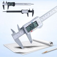 Vernier Caliper with LCD Stylish Digital Electronic Carbon Fiber Measurement Tools Accurate [Battery Included]