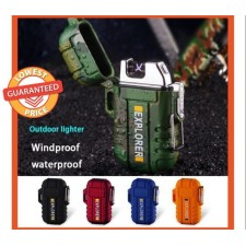 USB Rechargeable Flameless Electronic Dual Pulse Arc Cigarette Lighter