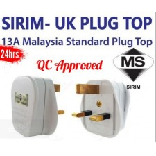 1pcs Top Standard SIRIM Approve UK Plug Top Safe 13A Malaysia 3 Pin Plug Home