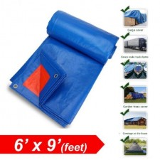 6ft X 9ft Canvas Waterproof Ready Made Tarpaulin Sheet Canvas Cover Protection Industrial