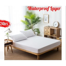 Terry Cloth Layer Waterproof Bed Trampoline Cover Urine Mattress Protective Cover