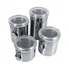 Stainless Steel Sealed Container Jar Kitchen Coffee Sugar Tea Storage Pot