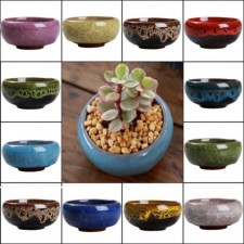 Mini Ice-Crack Glaze Marble Flower Pot Ceramics Succulent Plant Mini Pot Garden Flowerpot