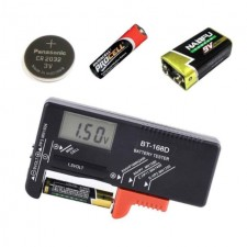 Battery Charger AA/AAA/C/D/9V/1.5V Universal Button Cell Battery Volt Tester Checker BT-168 BT-168D