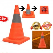 Folding Collapsible Traffic Multi Purpose Pop Up Reflective Stick Canvas Safety Cone Mini