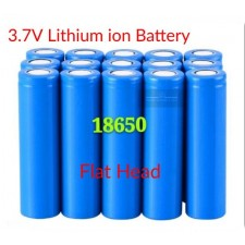 Real 18650 3.7V Flat Head Lithium LITHIUM-ION Fan Torch Battery