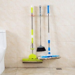 Mop Holder No Screw No Drill Hanging Stand