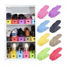 Durable Colorful Shoe Racks Hard Plastic Skip-proof Shoe Storage