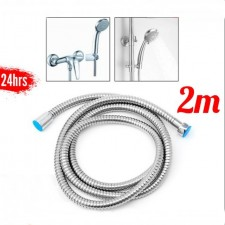 2m Shower Hose Paip Stainless Steel Flexible Tube Kit for Handheld Showerhead