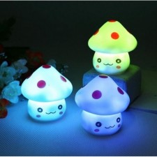 Mini LED Lamp Novelty Changing Night Light Mushroom Colorful Cute NightLamp Decor Romantic Feel