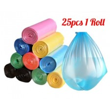 25pcs/pack Garbage Bags Flatten Up Kitchen Trash Bags Rubbish Bucket Kitchen Cleaning Tools