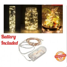 6.5FT / 2M LED Copper Wire String Lights 20 Waterproof Battery Operated LED Lights [ Battery Included ]