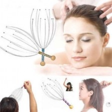 Head Massager 12 Claw Neck Scalp Scratching Head Top Point Octopus Acupuncture Relax Massage