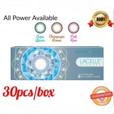 Bausch & Lomb Lacelle Diamond Daily Cosmetic Color 1 Day Contact Lenses 30pcs/Box (SPH -1.00 to -9.00)