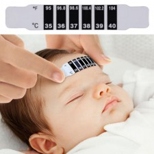 Forehead Strip Thermometer Sticker Safe Infant Kids Baby Head Temperature Test