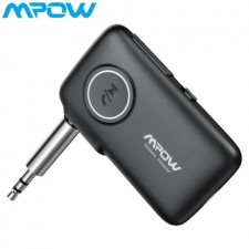 Mpow V5.0 CSR 16 Hours Bluetooth Receiver Bluetooth Car Adapter 66 FT Aux Adapter