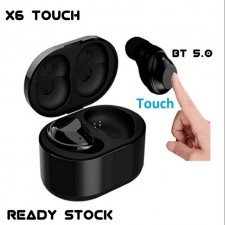 X6 Touch Bluetooth 5.0 Mini Wireless Bluetooth Stereo Headphone Touch Earbuds