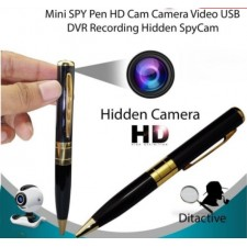 Spy Pen Mini DVR Cam Hidden SpyPen Video with Built-in Rechargeable Battery Gold