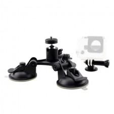 Auto Car Triple Suction Base Cup Mount Camera Sucker Holder GoPro Hero