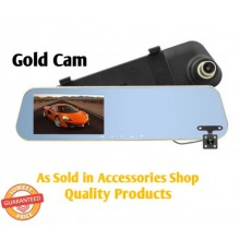 1080p Dual Lens Car DVR Cam Rearview Mirror Auto Video Recorder Dash Cam