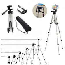 Tripod - 3110 Free Pouch Bag Phone Holder Aluminum Professional Strong Telescopic Camera Stand
