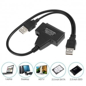HDD Sata Cable USB 2.0 to SATA Converter Adapter Cable For 2.5/3.5 Hard Drive Disk