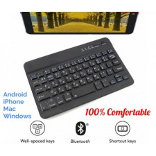 "7"" 7 inch Bluetooth Mini Ultra-thin Wireless Metal Slim Rechargeable Keyboard"