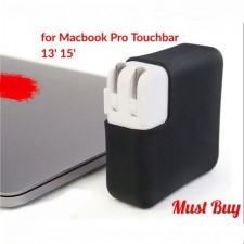 Macbook Pro Touchbar Adapter Cover Charger Protective Case Soft Silicone Protector Durable