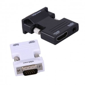 HDMI Female to VGA Male Converter Adapter Portable HDMI Connector for PC 1080p FHD