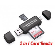 2 in 1 Card Reader Universal USB 2.0 OTG Micro Sd TF/SD Card Reader Phone Flash